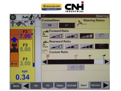 SISTEMA DE GIRO VARIABLE CUSTOMSTEER EN LAS SERIES T6 Y T7 DE NEW HOLLAND