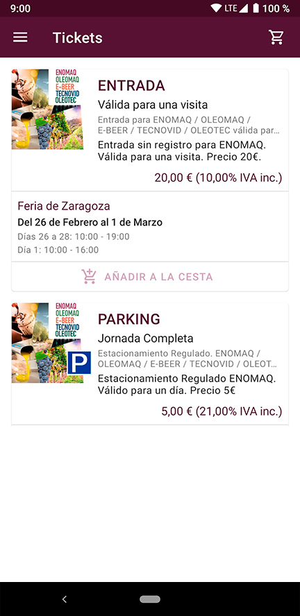 Compra de tickets
